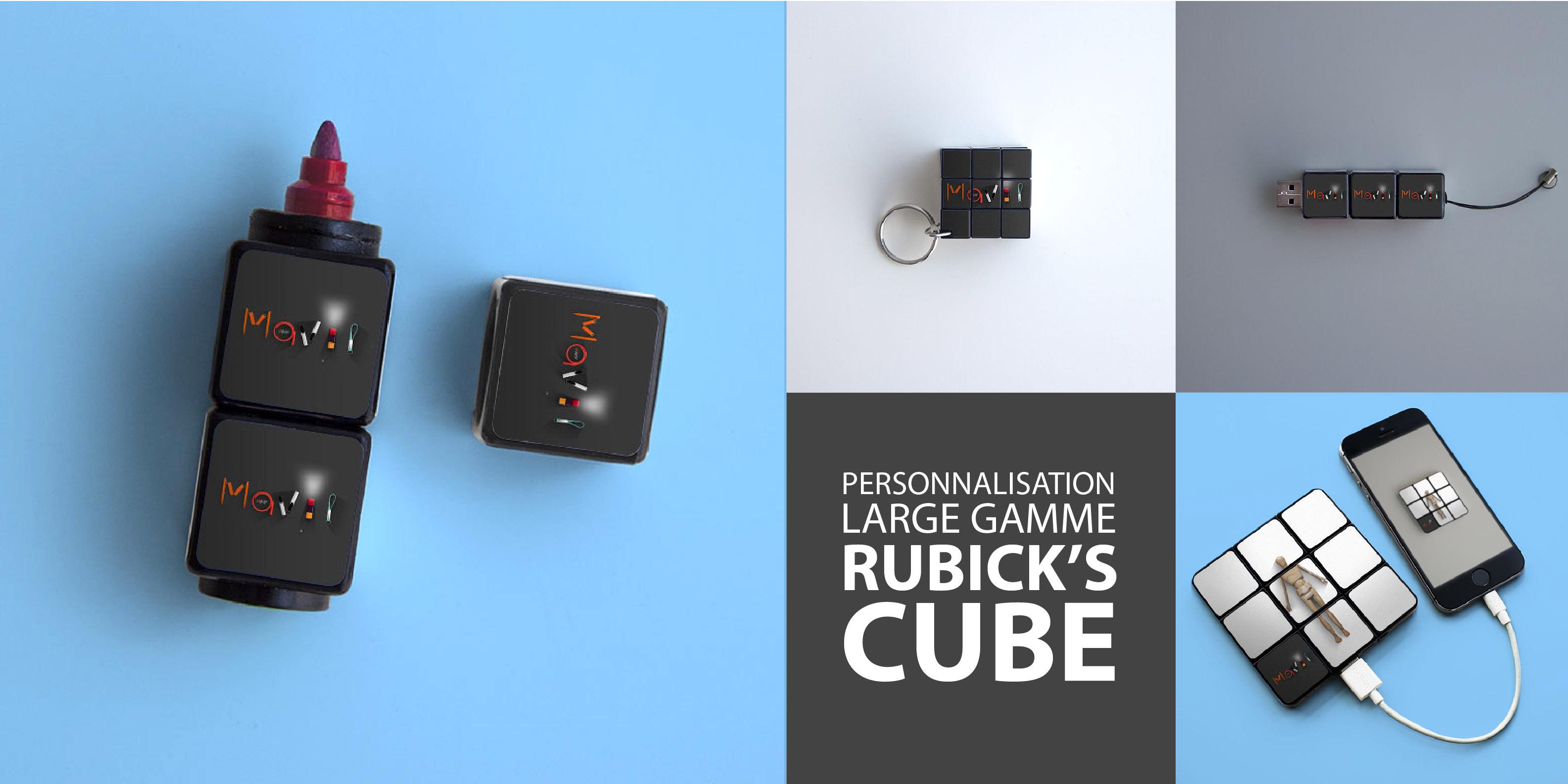 Personnalisation d'objets publicitaires de la large gamme Rubik's cube