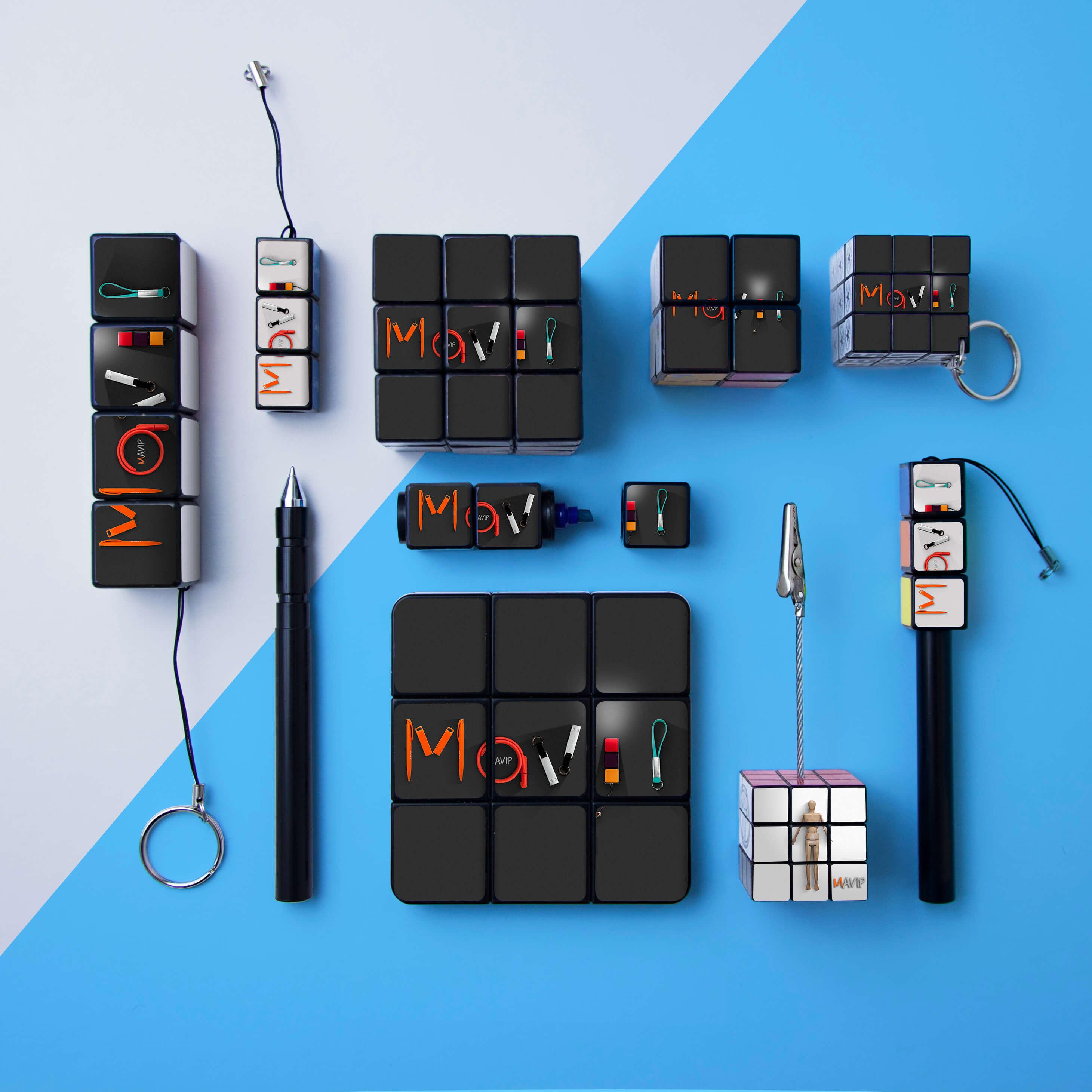 Mavip et les objets publicitaires Rubik's cube personnalisable avec votre logo