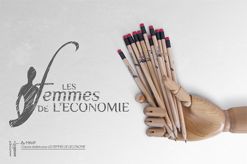 Crayons de papier réalisés pour Les Femmes de L'Economie par Mavip