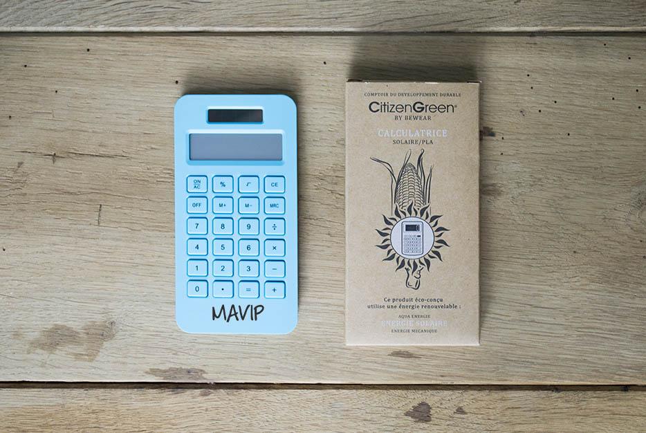 Calculatrice solaire publicitaire avec votre logo ici