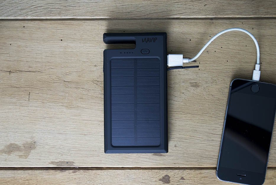 Chargeur solaire publicitaire avec votre logo ici