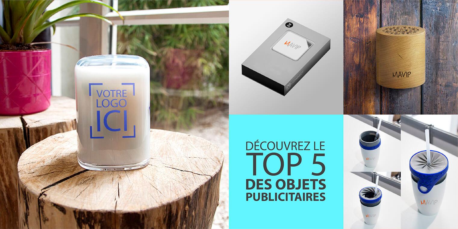Mavip vous présente son Top 5 des objets publicitaires