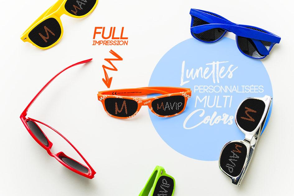 les lunettes publicitaires avec votre logo ici en full impression