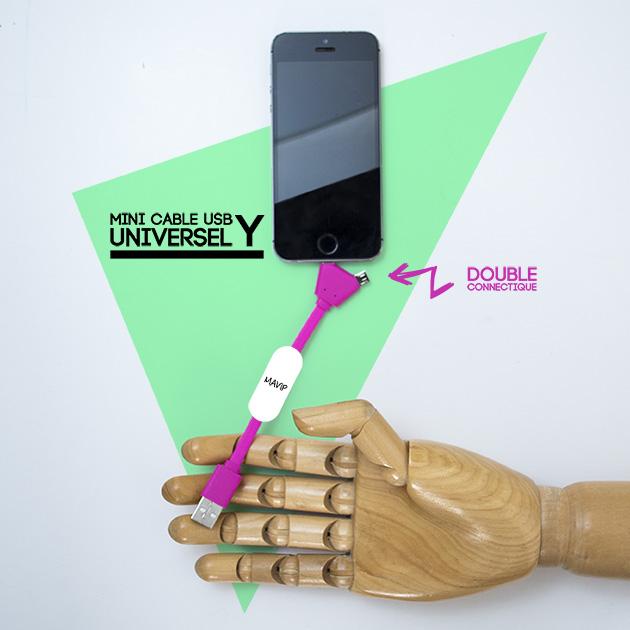 Câble Y universel pour smartphone avec votre logoici