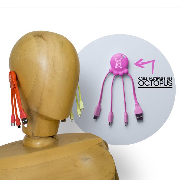 Câble universel Octopus pour smartphone présenté par Goodie Boy