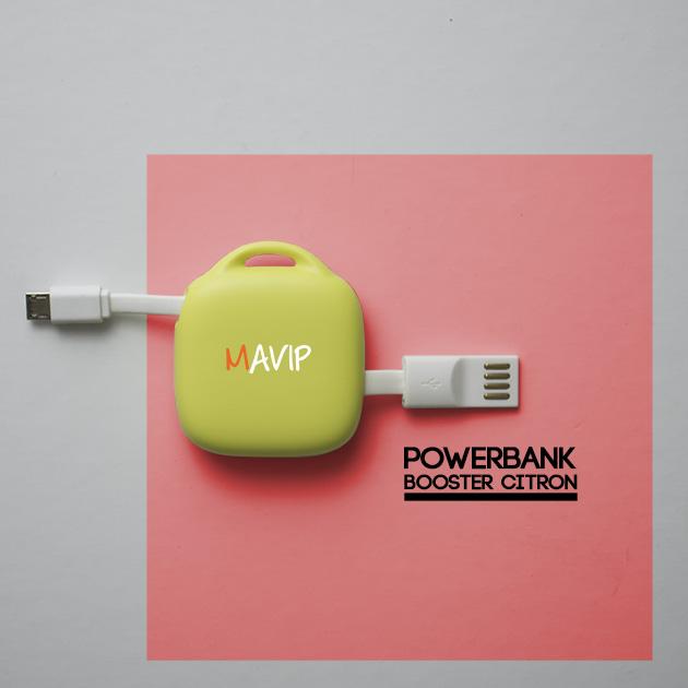 Câble + Chargeur 2 en 1 pour smartphone avec votre logo ici