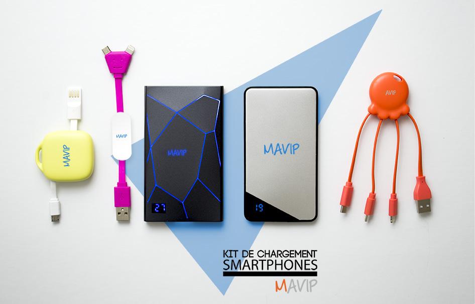 câbles de charge ou kit de charge pour smartphones