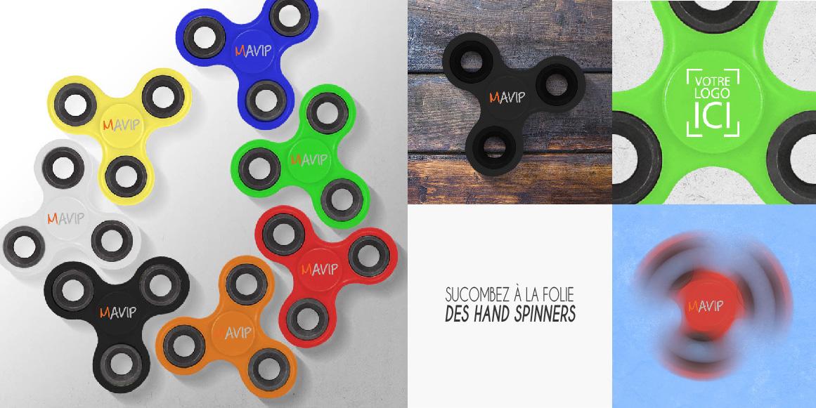 La folie des Hand Spinners avec Mavip et votre logo ici