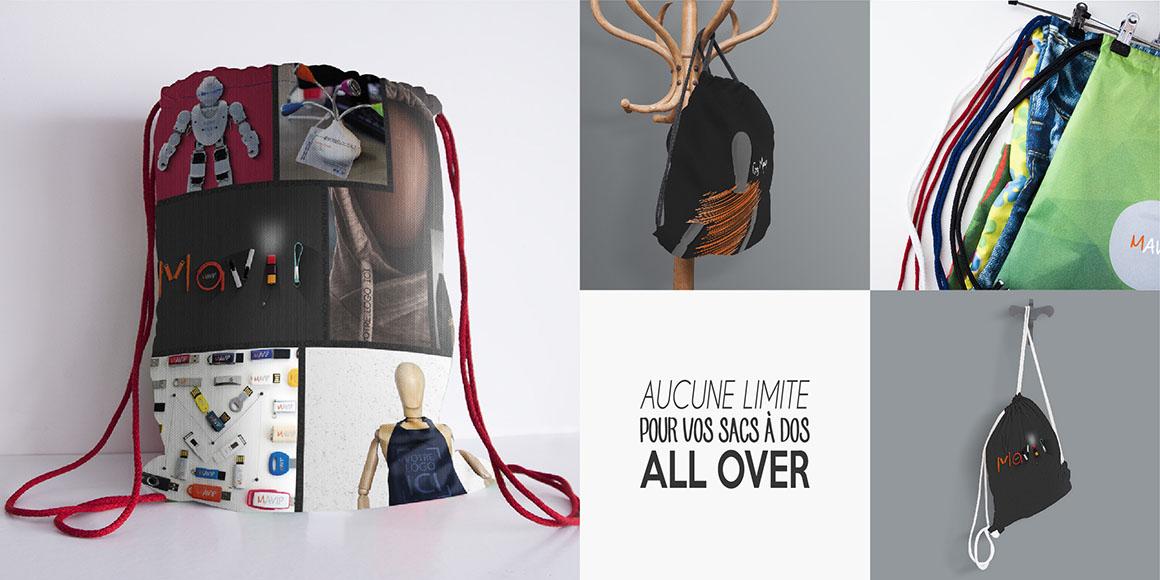 Les sacs à dos de sport en impression totale by Mavip