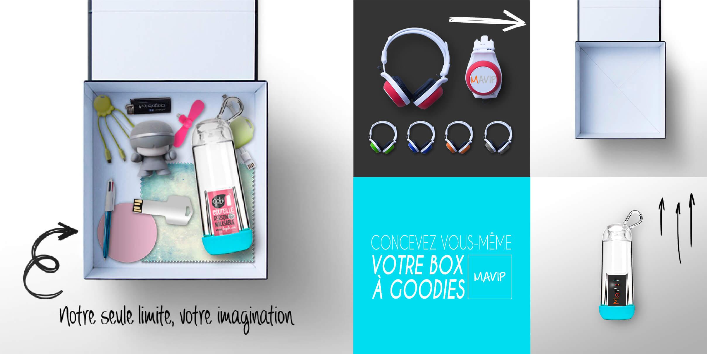 Composez vous même votre box personnalisée remplie de goodies