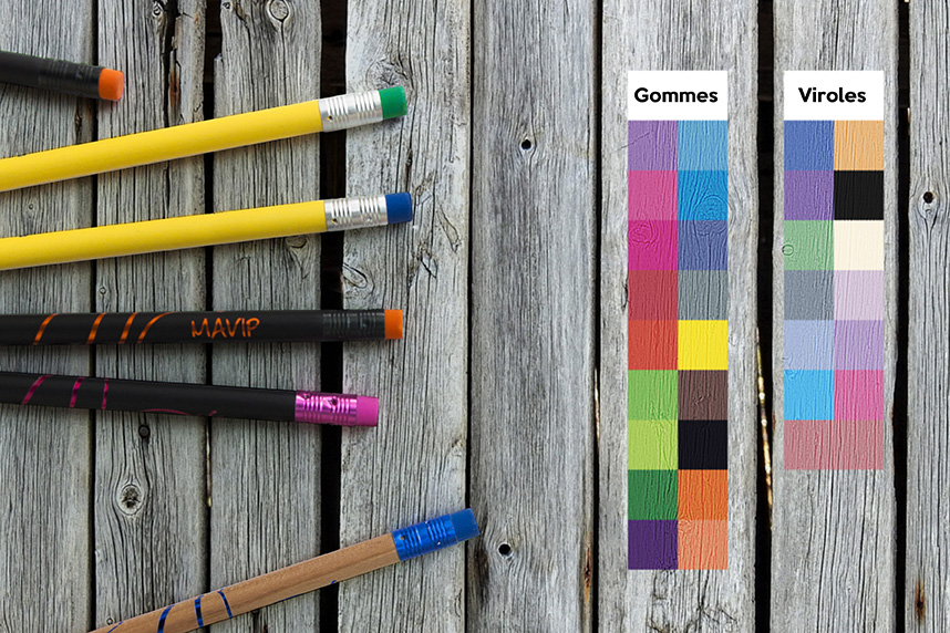 Choix de la couleur de la gomme de votre crayon à papier personnalisable by Mavip