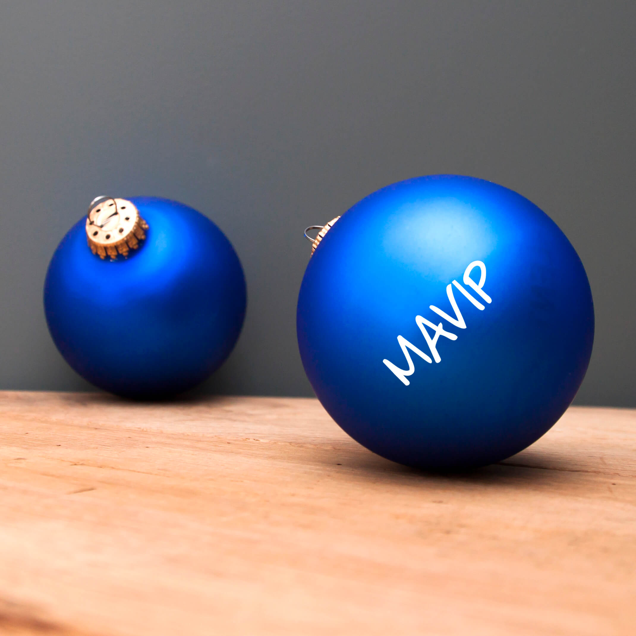 Boules de Noël personnalisables avec votre logo
