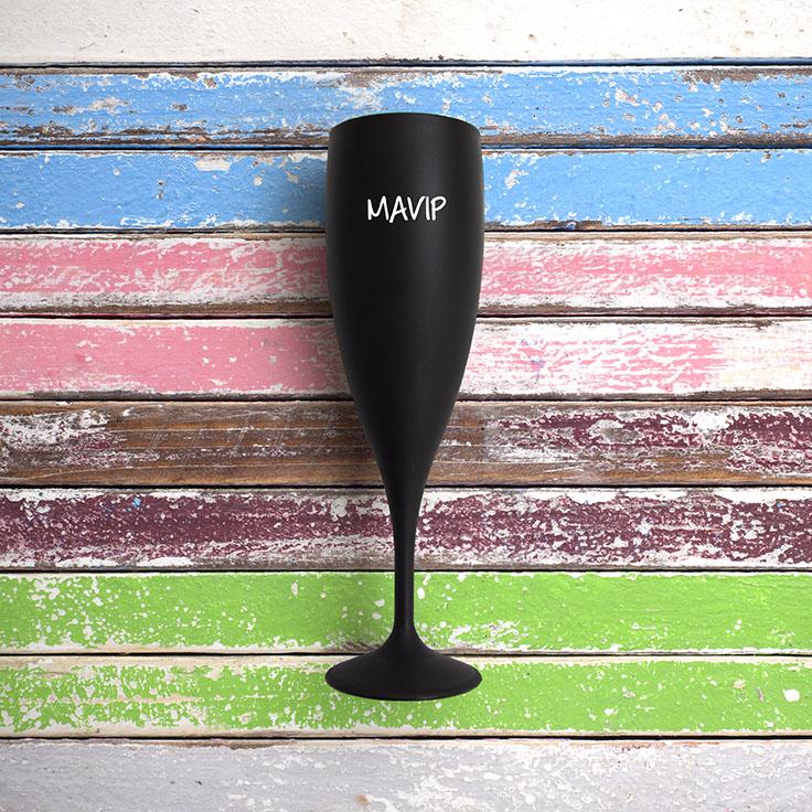 Flûte à champagne personnalisable avec votre logo