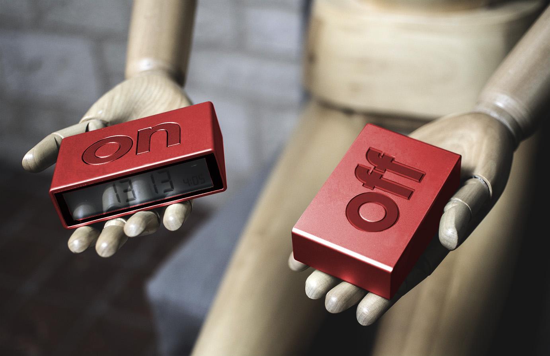 Réveil Flip et Flip Travel avec logo et couleur personnalisables