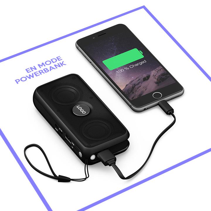 La fonction powerbank de l'enceinte sans fil multifonctions