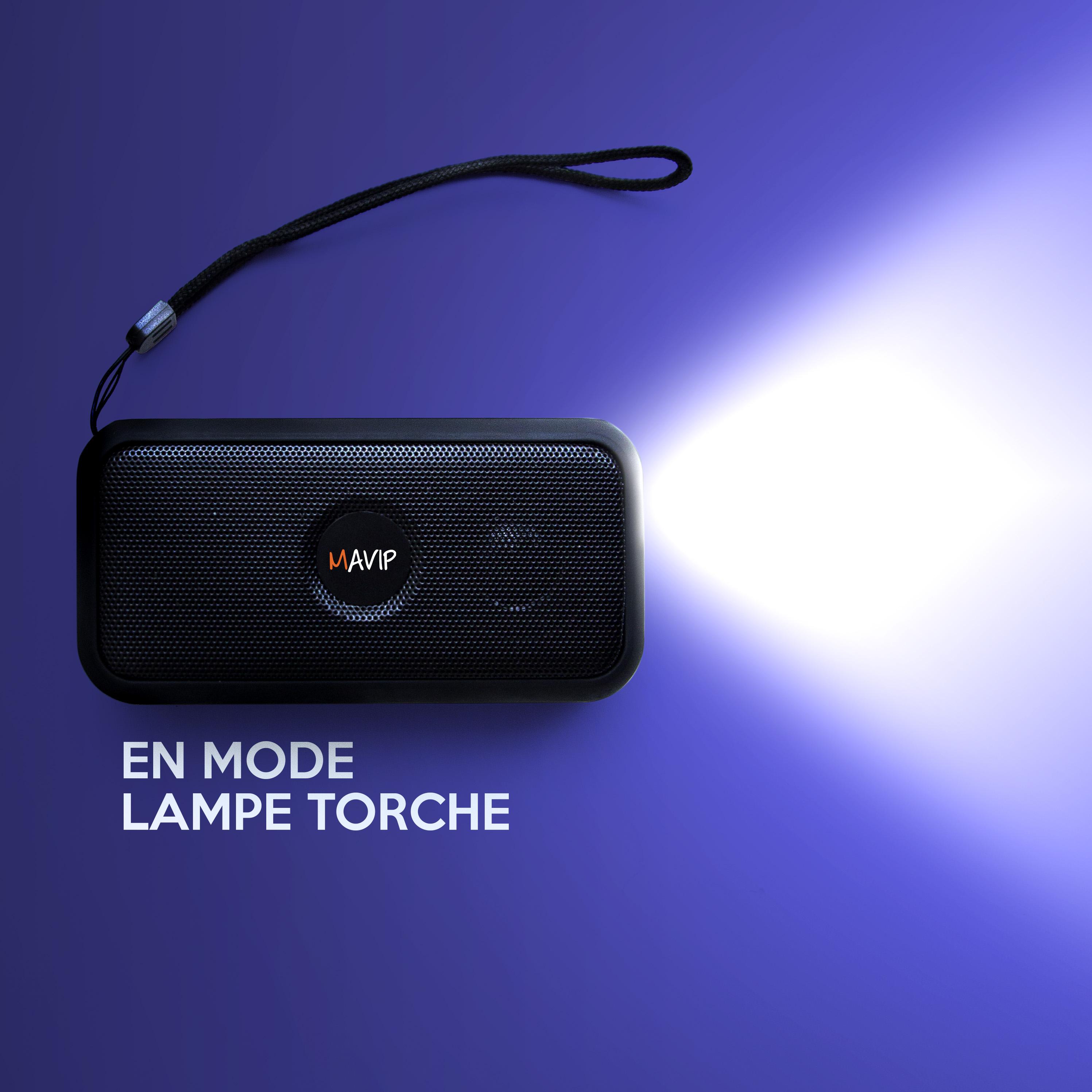 La fonction lampe torche de l'enceinte sans fil multifonctions
