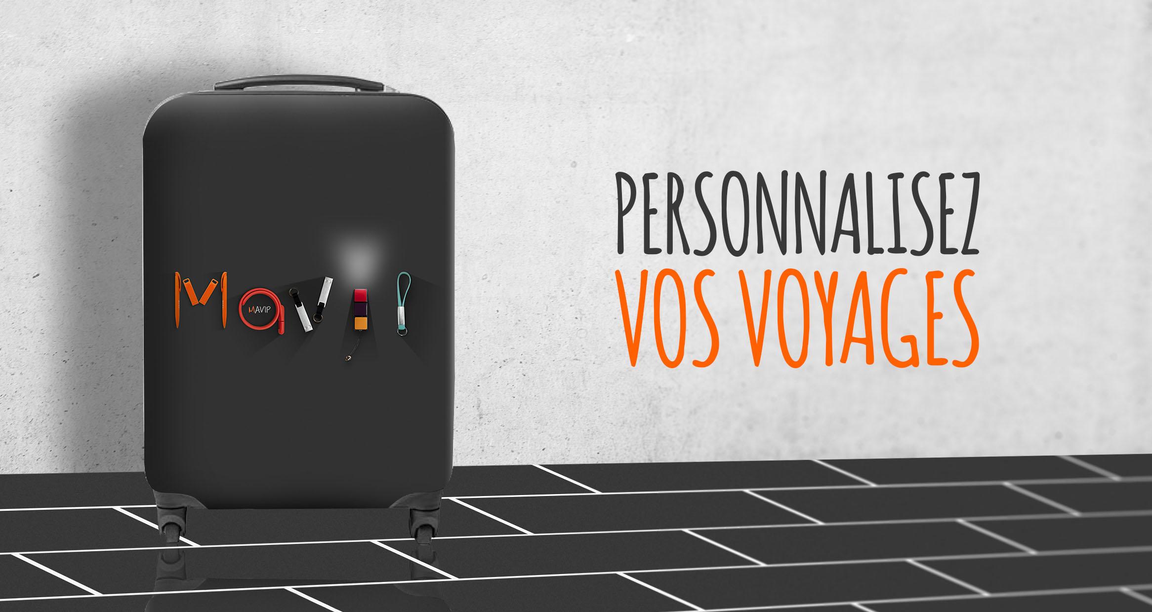 Objet de voyage la valise entièrement personnalisée en full impression
