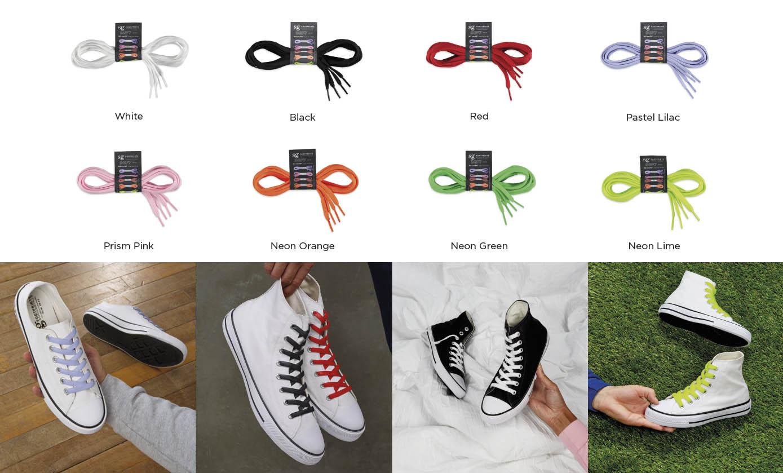 Les couleurs des lacets pour personnaliser vos chaussures