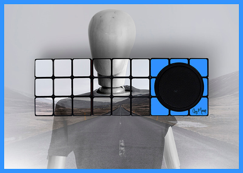 Enceintes bluetooth Rubik's cube personnalisées en marquage total