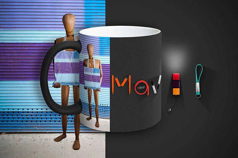 Mug imprimé en marquage total full impression