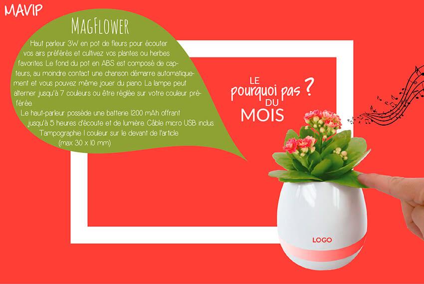 Flower Plante musicale personnalisée avec logo d'entreprise