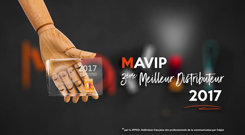 Mavip élu 3ème meilleur distributeur d'objets médias personnalisables