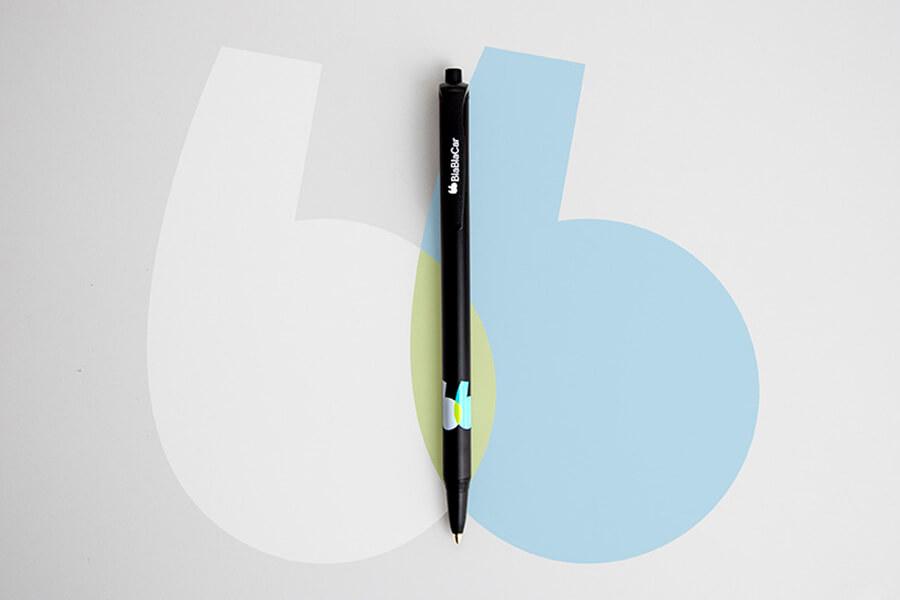 Les objets médias réalisés par Mavip avec le nouveau logo de Blablacar