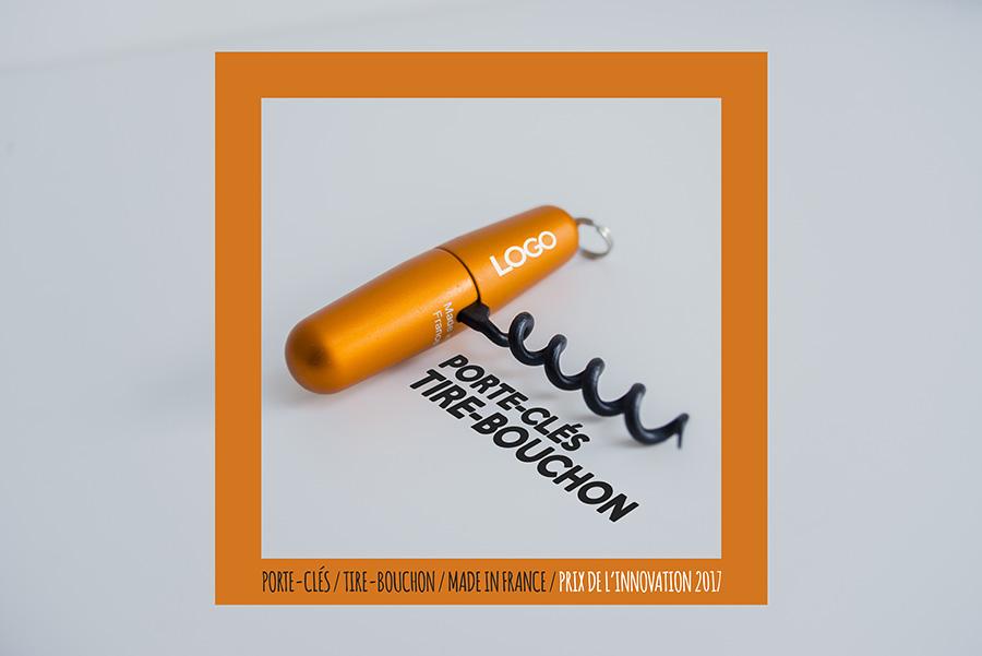 Tire-bouchon porte-clés design personnalisable avec logo d'entreprise
