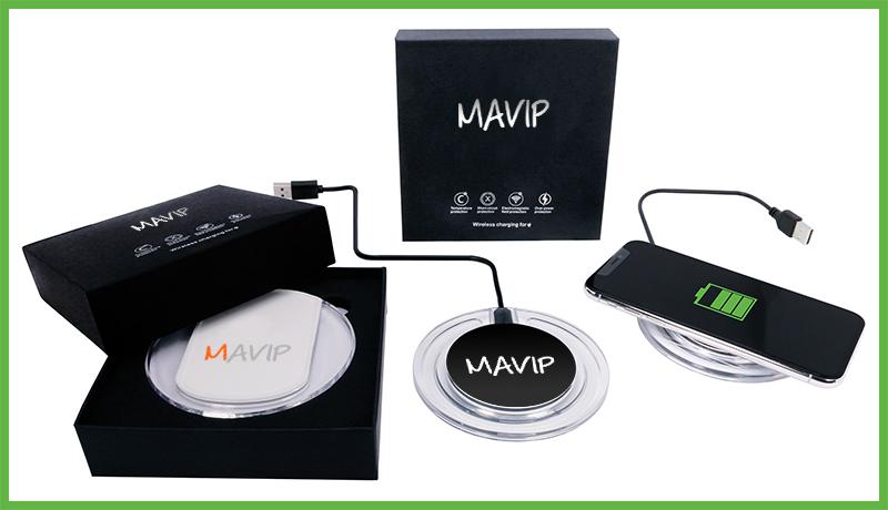 Chargeur à induction pour smartphones personnalisé avec logo d'entreprise