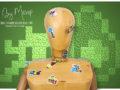 Stickers INVADER réalisés pour l'association végétarienne de France par Mavip