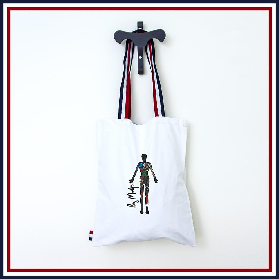 Tote bag personnalisé pour supporter l'équipe de France au mondiale 2018
