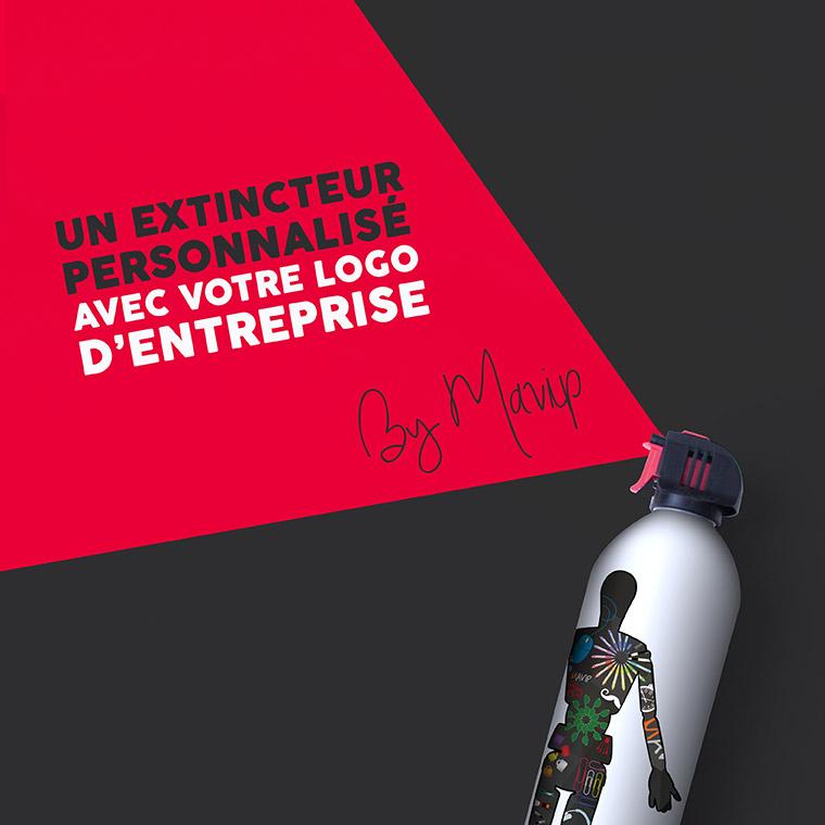 Aérosol anti-incendie extincteur personnalisable avec logo d'entreprise by Mavip