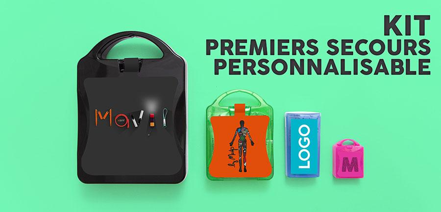 Kit de premiers secours personnalisé avec logo d'entreprise by mavip