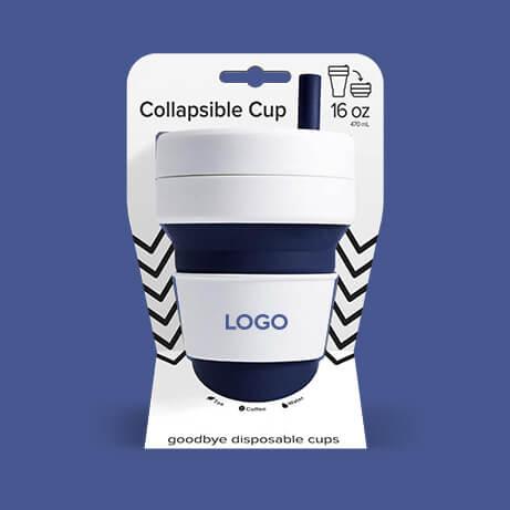 Tasse pliable personnalisée avec logo d'entreprise