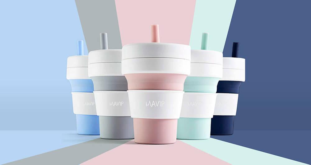 Tasse pliable personnalisée avec logo d'entreprise by Mavip