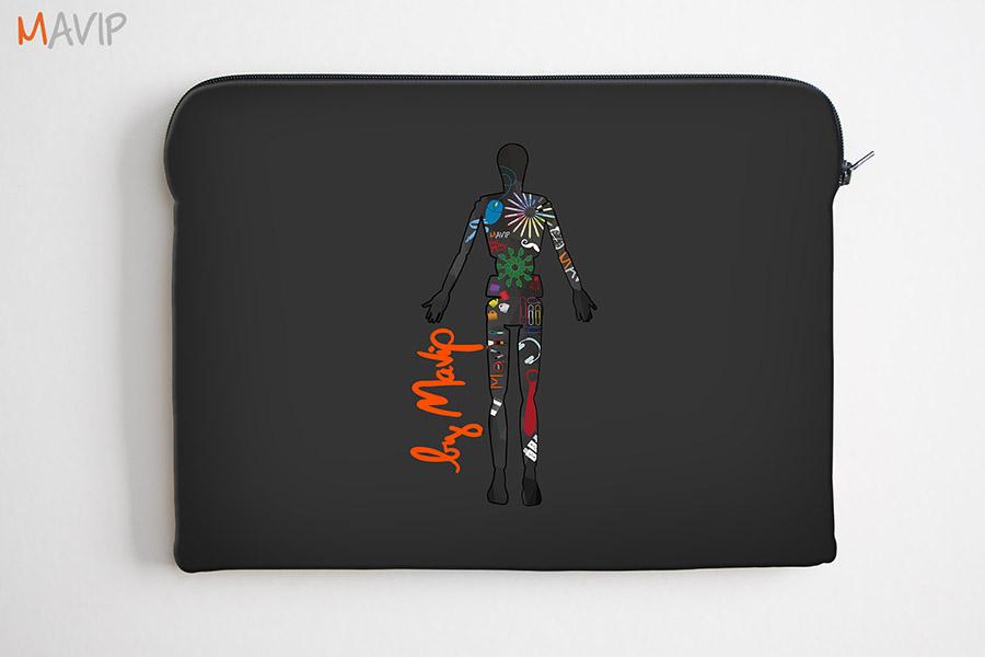 Pochette d'ordinateur portable personnalisée full impression avec logo d'entreprise by Mavip
