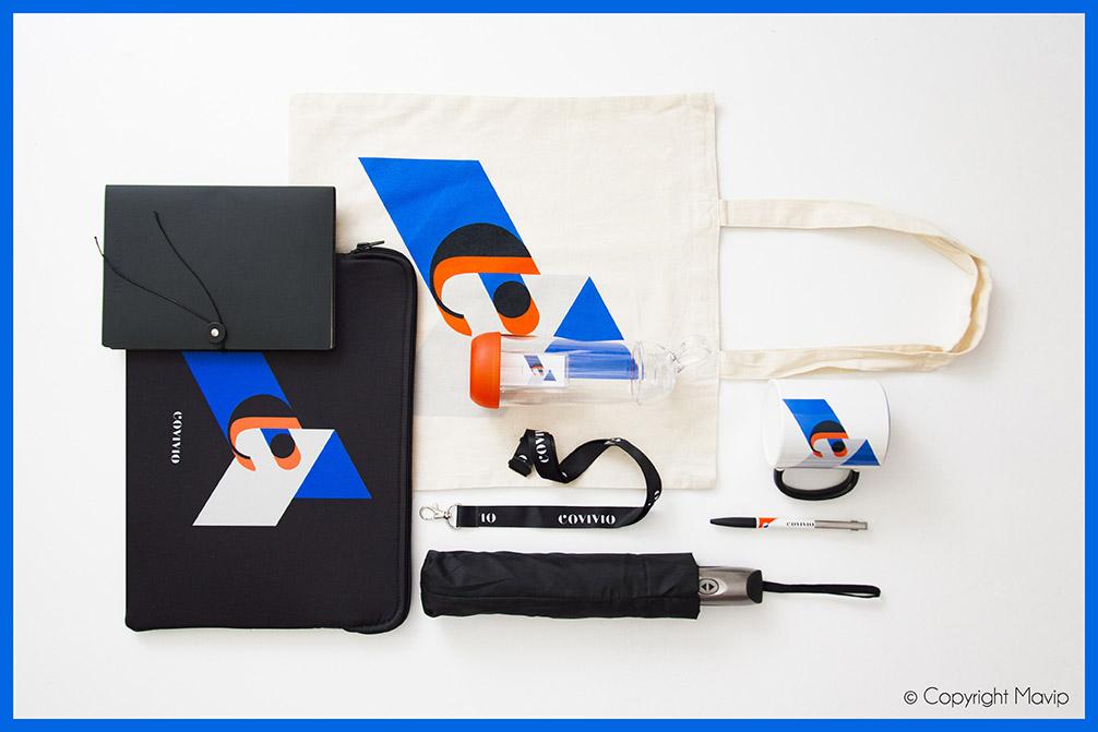 Kits d'objets médias réalisés pour Covivio par Mavip