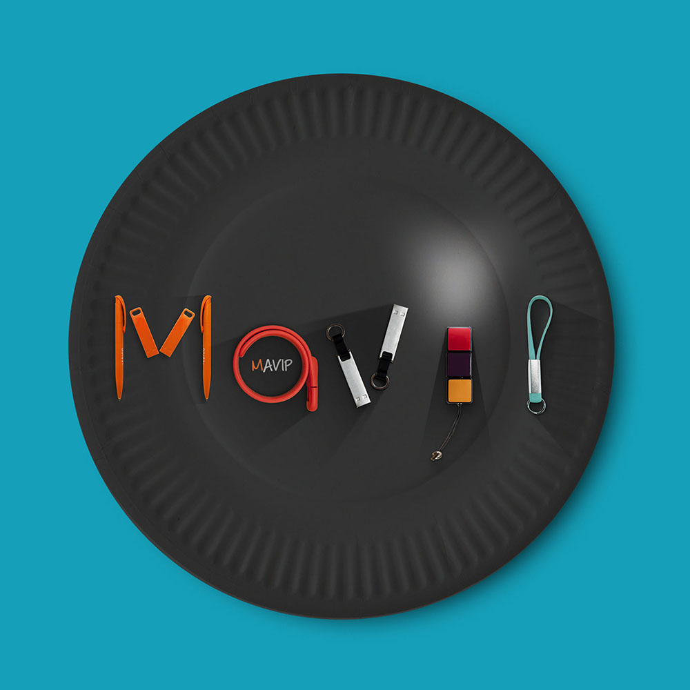 Assiette en carton l'objet média personnalisable avec logo d'entreprise by Mavip