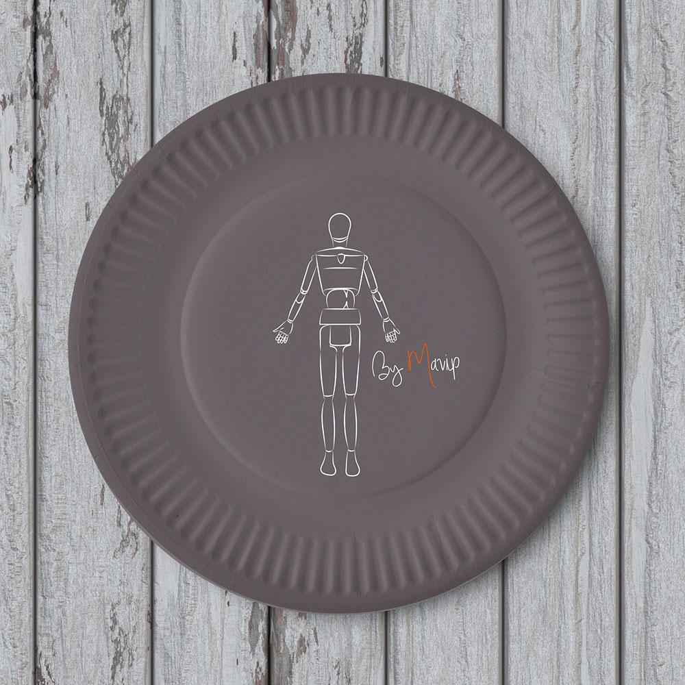 assiette en carton personnalisable avec logo d u2019entreprise