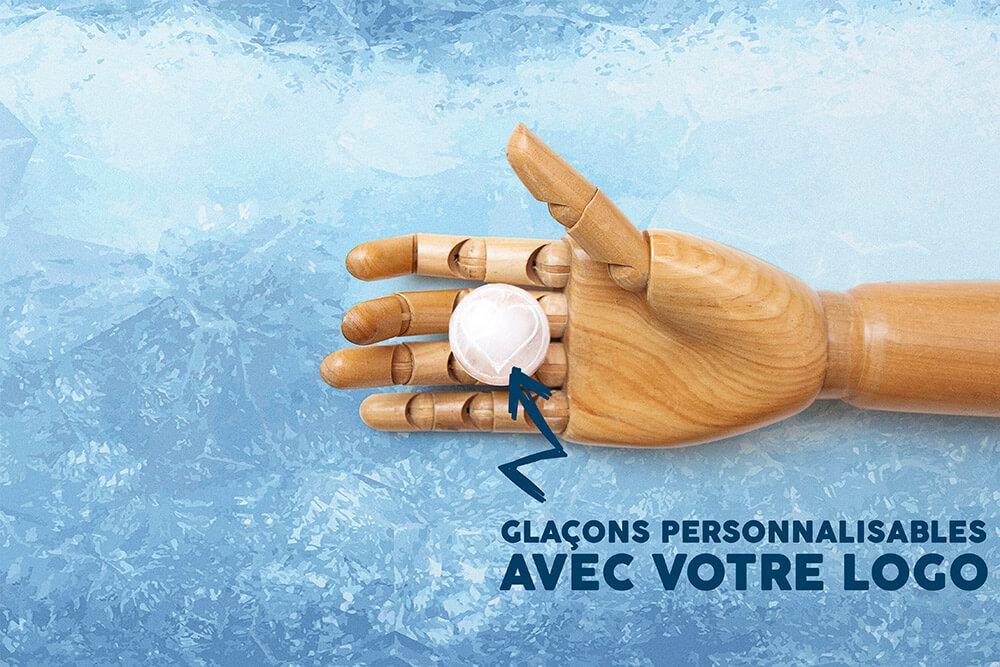 Glaçons à la forme de votre logo d'entreprise glaçon personnalisable by Mavip