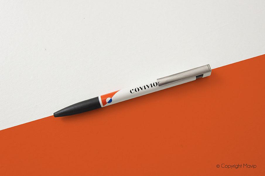 Stylo personnalisé avec le logo de Covivio par Mavip