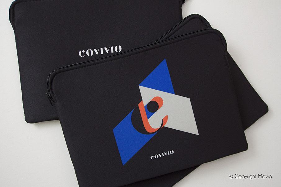 Saccoche personnalisée avec le logo de Covivio par Mavip