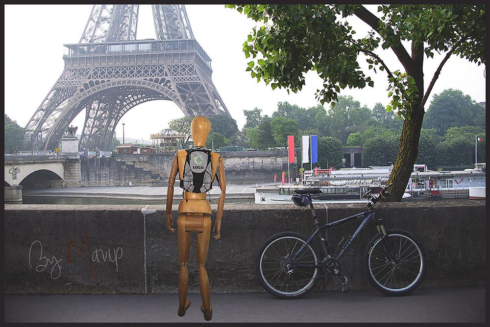 Sac à dos de cycliste de signalisation personnalisable avec logo d'entreprise - Objet média