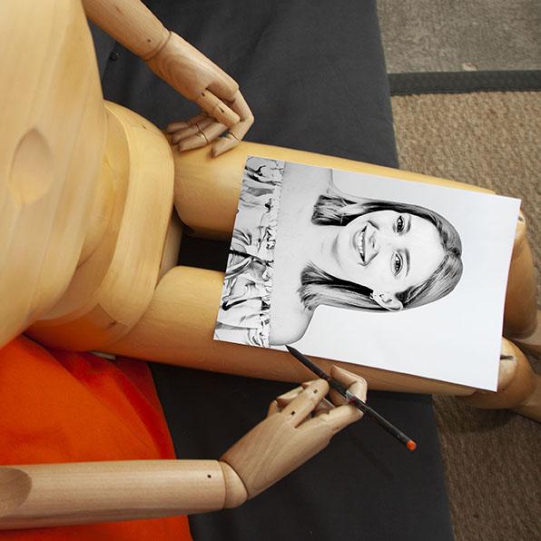Alizée en stage de graphisme chez Mavip