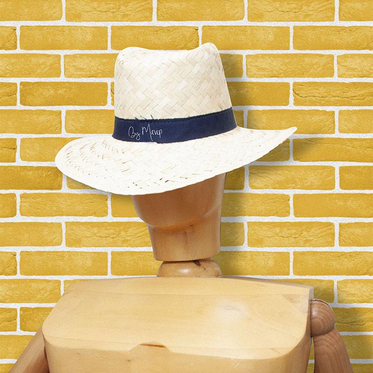 Chapeau de paille personnalisé avec logo d'entreprise
