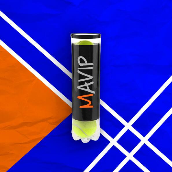 Balle de tennis personnalisées avec logo ou photo by Mavip objet média