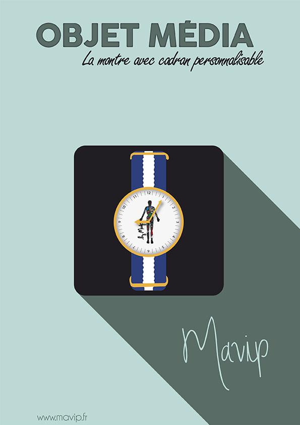 La montre, l'objet média personnalisable avec logo
