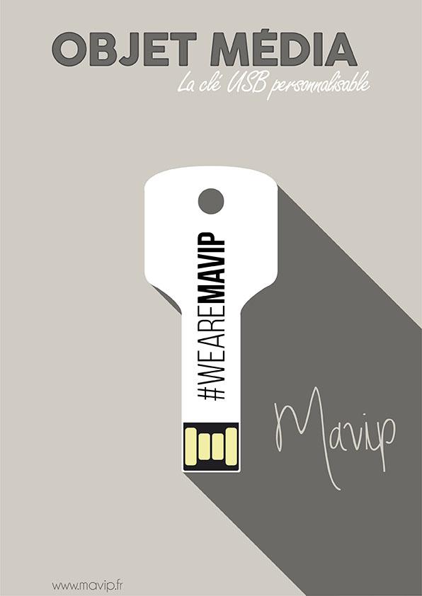 La clé USB l'objet média personnalisable avec logo