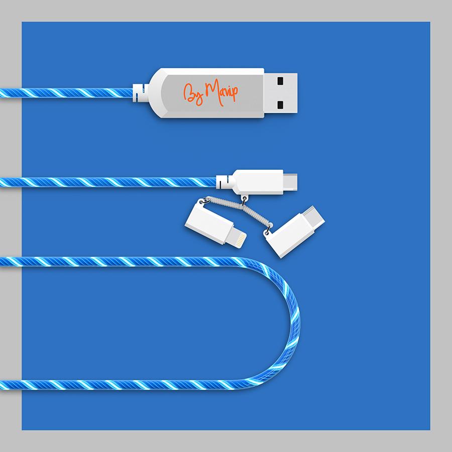 Câble de charge lumineux pour smartphone personnalisable avec votre logo by Mavip