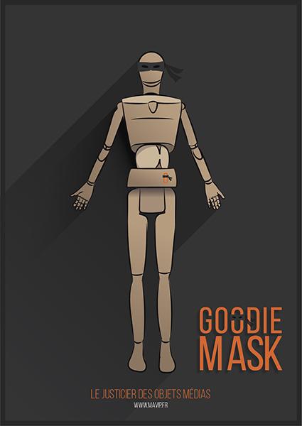 Goodie Mask le justicier des objets médias qui lutte contre la mauvaise qualité et la contrefaçon des objets publicitaires